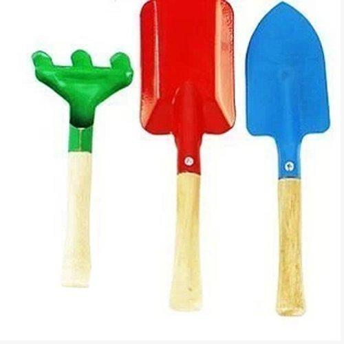 Lot de 3 mini Yard Jardinage manche en bois Pelle/bêche/fourche outils