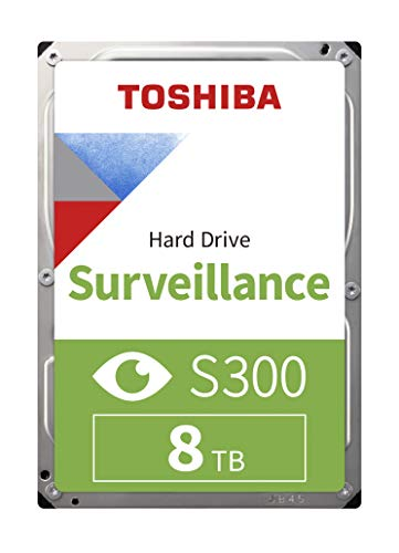 'Toshiba hdwt380uzsva–Internal 3.5(8TB HDD Überwachung S3007200RPM, 256MB Bulk), Schwarz