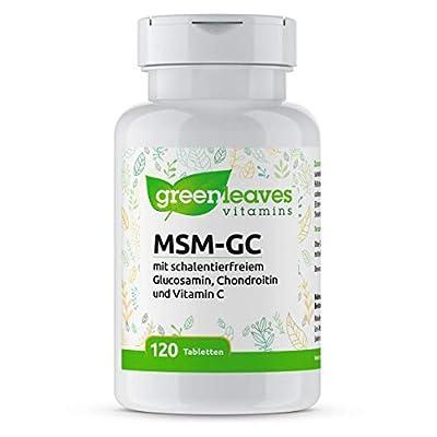 Greenleaves Vitamins - MSM-GC 120 Tabletten (Opti-) MSM, pflanzliche Glucosamin und Chondroitin