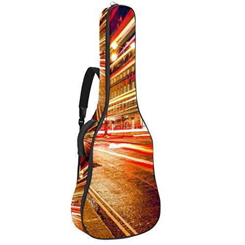 Bennigiry Bolsa de guitarra acústica para guitarrista en Londres, color rojo