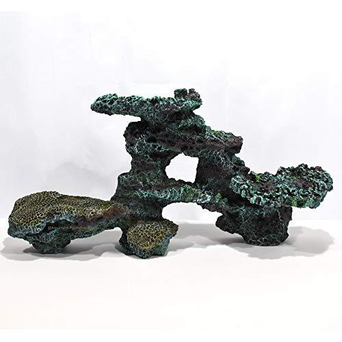 Aquarium 3D Deko Riffgestein Felsen Stein Natur Nachbildung 62 x 16 x 30 cm