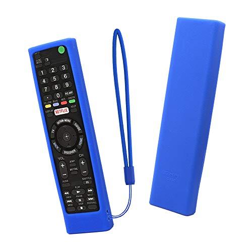 SIKAI CASE Protegge Custodia per Telecomando Compatibile con Sony Bravia Remote RMT-TX100 RMT-TX200E RMT-TX300E RMT-TX310E RMF-TX200C, Anti-Graffi Antiscivolo Protettiva in Silicone Proteggere (Blu)