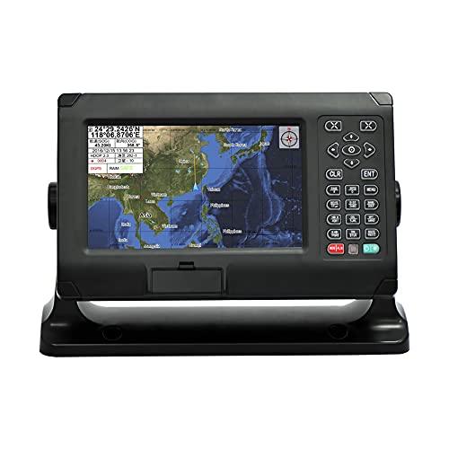YAOQI Plotters GPS marinos, Pantalla LCD GPS/SBAS Navegador Marino, Impermeable Localizador de Navegación GPS para Barco con Alerta de Seguridad para Barcos, Barcos de Pesca y Yates de Ocio