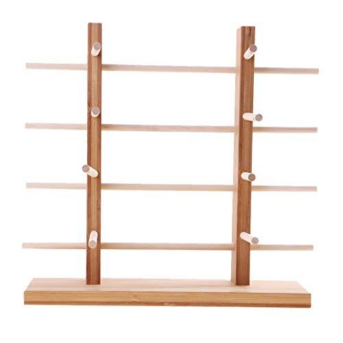Unlackiertes Holzgestell für Sonnenbrillen, 2-reihig, 3/4/5/6 Ebenen, 4-lagig