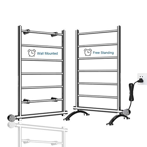 AVONFLOW Heated Towel Warmer Racks with Timer for Bathroom Freestanding & Wall Mounted 250W Towel Heater