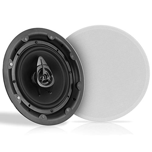 """Best Bargain Ceiling and Wall Mount Speaker - 8"""" Dual 2-Way Audio Stereo Sound Subwoofer Sound wit..."""