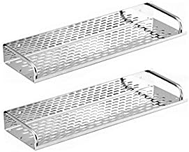 "SBD™ Multi Purpose Stainless Steel Shelf (15""x4.5"") inch Chrome Finished (Pack Of 2)"