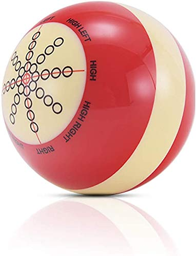 GFHN Bola de Billar de bateo, 57 mm, Color: Rojo/Blanco