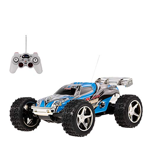 DeXop Rc Car, 2WD 1:32 Scale Remote Control Racing Car High Speed Vehicle RC Car (Blue)