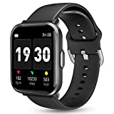 Smart Watch for Android Phones iOS, KALINCO Swim Watch with Heart Rate Monitor Pedometer Calorie Counter, 5ATM Waterproof Fitness Tracker with Sleep Monitor Compass, Smartwatch for Men Women (Black)