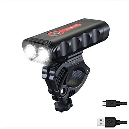 Juego de luces para bicicleta, recargable por USB, con 5 modos de iluminación, IPX6, resistente al agua, luces delanteras y traseras para bicicleta