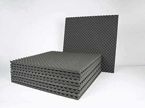 10(ud) Espuma Acustica de insonorizacion. Panel Acustico de 595 x 595 x 20/10 mm. EliAcoustic Alveolar Piramidal 20/10