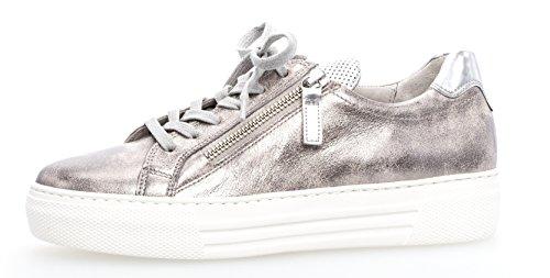 Gabor Damenschuhe 86.468.62 Damen Schnürhalbschuhe, Sneaker, mehr Raum Dank Comfort-Mehrweite, Reißverschluss, Optifit- Wechselfußbett Rosa (Rose/Argento), UK 6