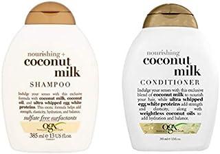 ogx® (antes Organix) Nourishing Coconut Milk Shampoo 385 ml + acondicionadorpulverización 385 ml – Cuidado de lujo para c...