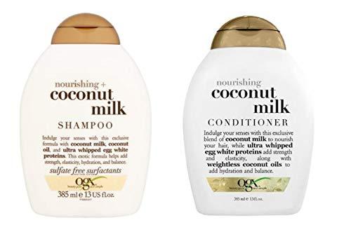 ogx® (ehemals Organix) Nourishing Coconut Milk SHAMPOO 385ml + CONDITIONER/SPÜLUNG 385ml - luxuriöse Tiefenpflege von coloriertem Haar