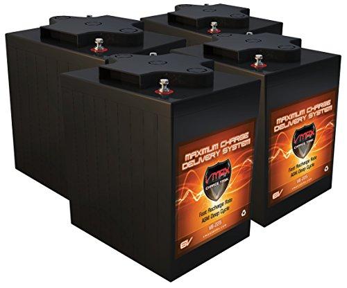 Qty 4 VMAX V6-225: 6.2kWh 24V AGM Solar Battery Bank for Home, RV, or Industrial (4) 6V 225Ah AGM Deep Cycle Batteries 6 Volt Maintenance Free