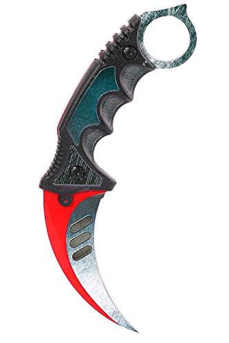 ariknives Elite - Counter Karambit Skin Knife CS GO Streik Messe Jagdmesser taktisches Überlebens Camping Werkzeug (Autotronic)