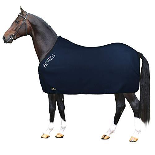 Horses Coperta Pile Basic Blu 155 cm