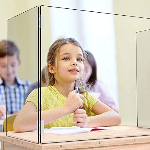 Creechwa Nysskydd skydd skärm perspex skärm för skrivbord, nysskydd skydd, skydd mot nysning för studentskrivbord, kontor, kassaskåp och butiker (C)