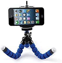 ShopAIS Universal Flexible Octopus Style Tripod with Monopod Mount Adapter and Long Screw Mobile Holder - (Multicolor)