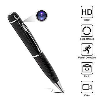 Yumfond Hidden Spy Pen Camera HD 1080P Portable Digital Video Recorder with Photo Taking USB Port Covert Cam Wireless Mini DV Cam Multifunction Ink Pen Camcorder for Conference and Home  Video Only