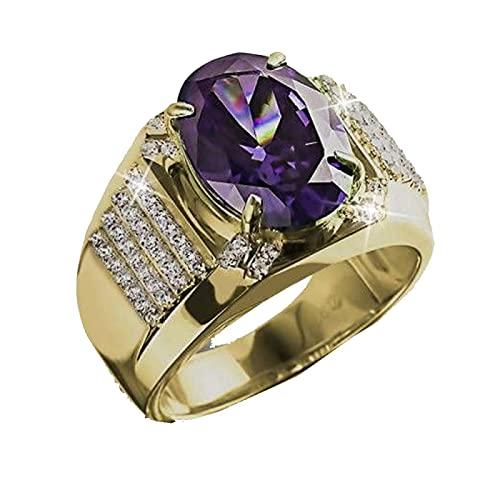 Clásico precioso anillo de boda para mujer, encanto de piedra púrpura, piedra pavimentada, fiesta de noche, anillo único femenino, envío directo10Purple