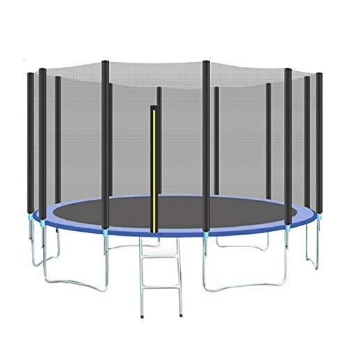 Trampolín para jardín interior/exterior, trampolín con red de seguridad y escalera, ejercicio de salto, fitness, trampolín familiar resistente, 8 pies, 10 pies, 12 pies, 14 pies, 16 pies