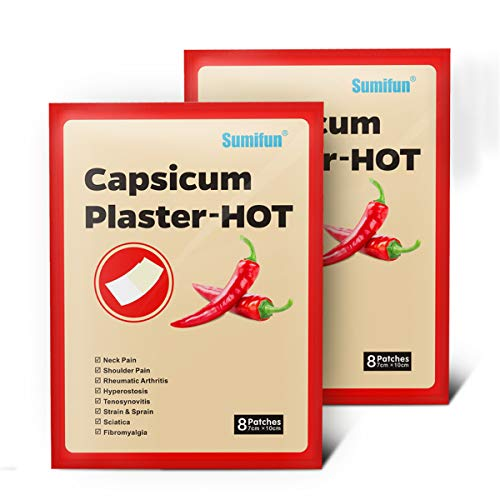 HELLOYOUNG 40 Stück Hot Capsicum Gips Relief Chinese Medical Patch für Gelenke Linderung Salbe Aufkleber