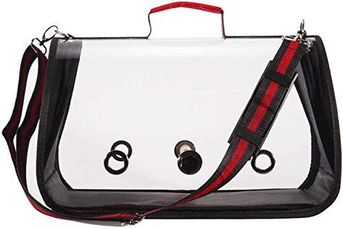 Family in Transportbox Vogel,Transportbehälter Bird Carrier Leichte Transparente Transporttasche Für Vogelkäfige, Papageien, Nymphensittiche, Quäker, Quaken, Mini-Aras