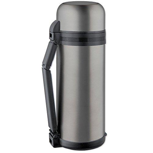 ISOSTEEL Isolierflasche Weithals 1,5 Liter, Titan-Grau