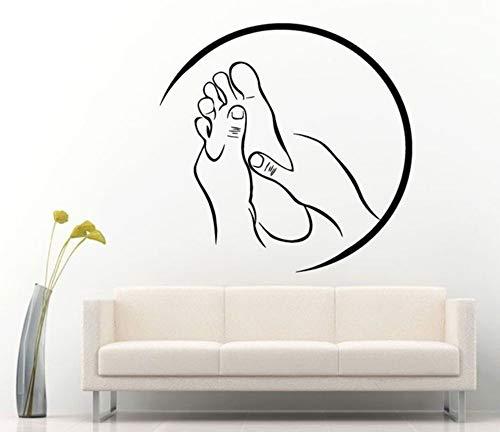 Spa Massage Zeichen Aufkleber Vinyl Aufkleber für Salon Relax Pamper Beauty Rest adesivo de parede Moderne Raumdekoration Aufkleber 57x56 cm
