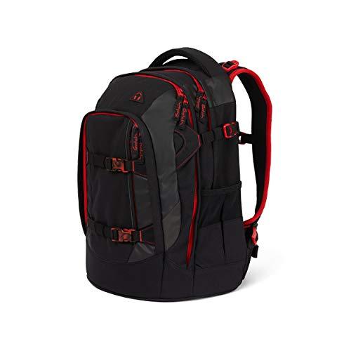 Satch pack Schulrucksack - ergonomisch, 30 Liter, Organisationstalent - Fire Phantom - Black