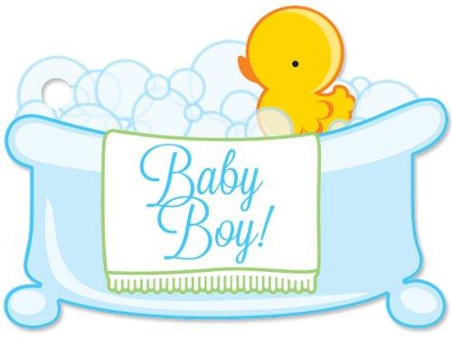 Baby Boy Bubbles Theme Gift Cards3-3/4x2-3/4' (30 unit, 6 pack per unit.)