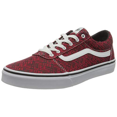 Vans Ward Canvas, Scarpe da Ginnastica, Otw Logo Red White, 34.5 EU