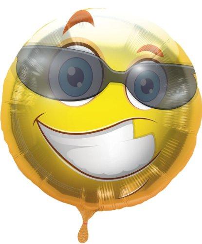 Folienballon Geburtstag Smiley mit Brille Helium Ballon