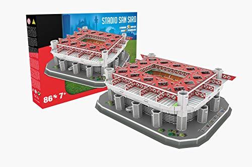 Giochi Preziosi 70011271 - Rompecabezas 3D Estadio de San Siro de Milán, Rojo
