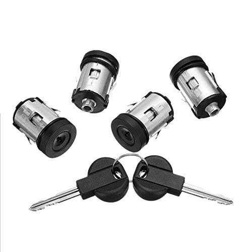 DFYYQ Barril de Coches Cerraduras de Llaves Conjunto (Color : Black)