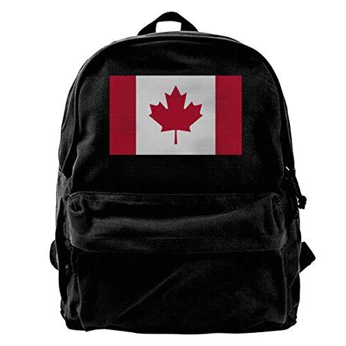 GOSMAO Mochila de Lona Mochilas Escolares Bandera de Canadá Mochila de Lona para portátiles Mochilas de Viaje Bolsa de Gran Capacidad Unisex