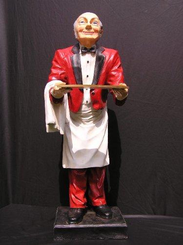 Helga Freier Butler Jeams Figur Diner Statue Opa Old Man Skulptur