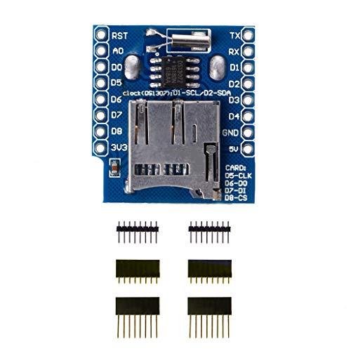 Yintiod Micro SD Wemos D1 Mini Datenlogger Shield + RTC DS1307 Uhr für Arduino Raspberry