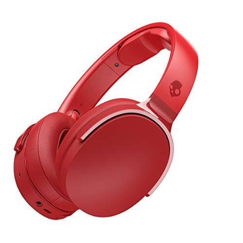 Skullcandy Hesh 3 Bluetooth Wireless Over-Ear Headphones with Microphone, Rapid Charge 22-Hour Battery, Foldable, Memory Foam Ear Cushions for Comfortable All-Day Fit, Red