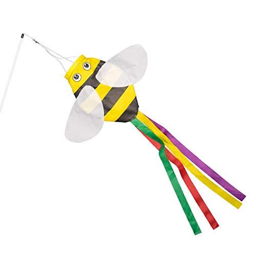 CIM Windsack - Bumblebee - UV-beständig und wetterfest - Abmessungen: 15x60cm - inkl. Fiberglasstab und Wirbelkarabiner
