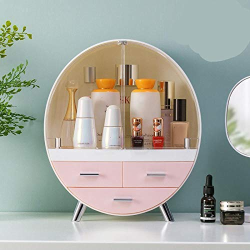 Sllnkll Make-Up-Box,Kosmetische Aufbewahrungsbox,Desktop Acryl,Desktop Staubdichte Badezimmer...