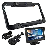 Solar Panel License Plate Frame Rear View Reverse Backup Camera Kit, Car Rover 110° Viewing Angle Universal Reversing Cameras with 4.3