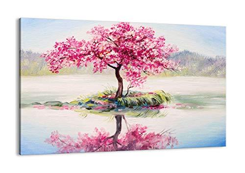Cuadro sobre lienzo - Impresión de Imagen - árbol abstracción - 120x80cm - Imagen Impresión - Cuadros Decoracion - Impresión en lienzo - Cuadros Modernos - Lienzo Decorativo - AA120x80-3805