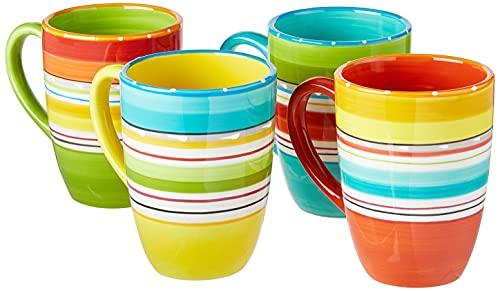Certified International Mariachi Mugs (Set of 4), 20 oz, Multicolor