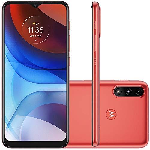 Celular Motorola Moto E7 Power Vermelho Coral 32gb Tela 6.5 Cam Dupla 13mp + 2mp
