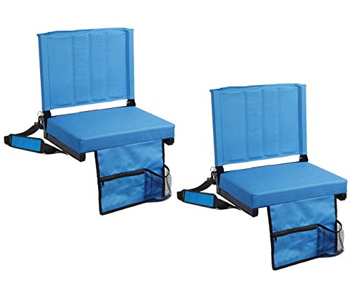 SPORT BEATS Stadium Seats for Bleachers Stadium Chair with Back Support and Wide Padded CushionIncludes Shoulder Strap and Cup Holder