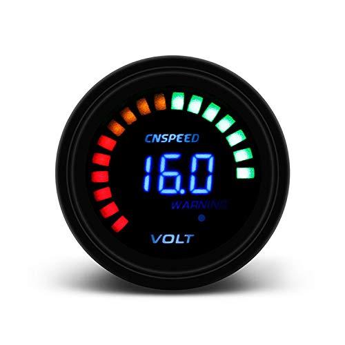 JCYM Medidores para Coches 2 '' 52mm 12V Coche Voltímetro Digital Voltímetro Medidor 20 Blanco 8-16V Voltímetro Digita Conjuntos de Calibre automotriz