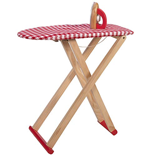 Fat Brain Toys Ironing Board with Iron - No More Wrinkles! Ironing Set Imaginative Play for Ages 3 to 9